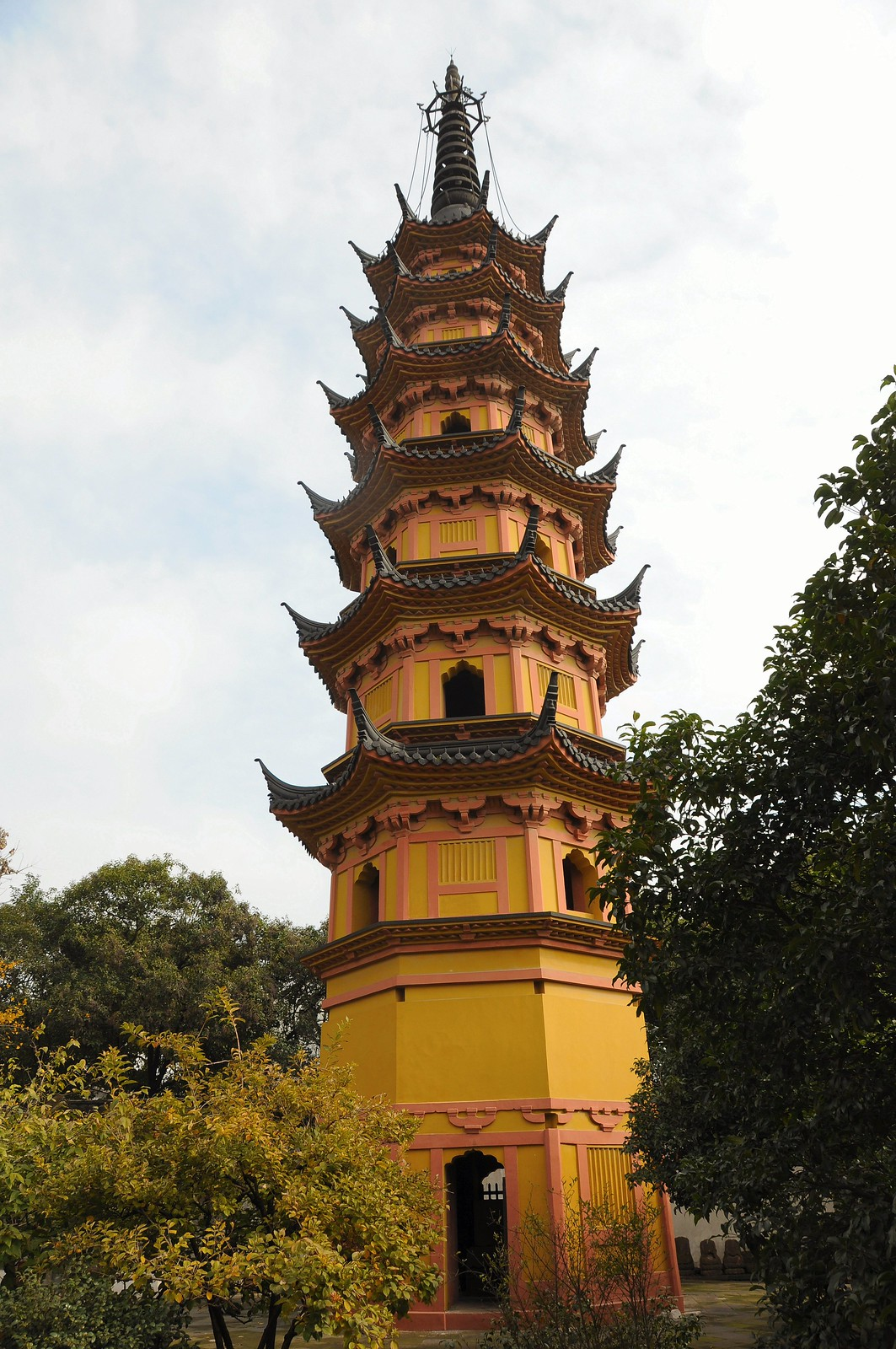 Twin Pagodas, Luohanyuan Temple, Suzhou, China