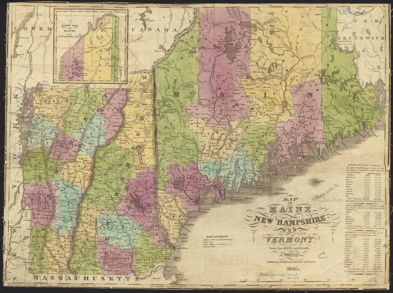 Map of Maine, New Hampshire and Vermont, from the most aut… | Flickr