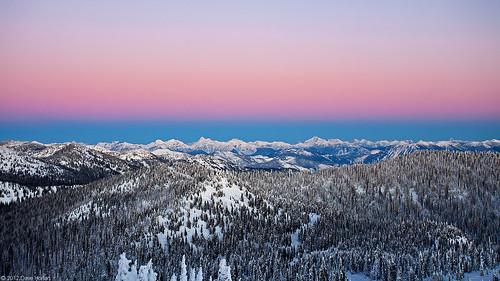 winter sunset snow mountains rockies twilight montana rocky whitefish alpenglow bigmountain