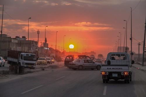 sunset sun asia iraq najaf aredaphotography
