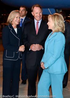 Secretary Clinton Arrives