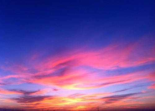sunset sky louisiana colours thibodaux