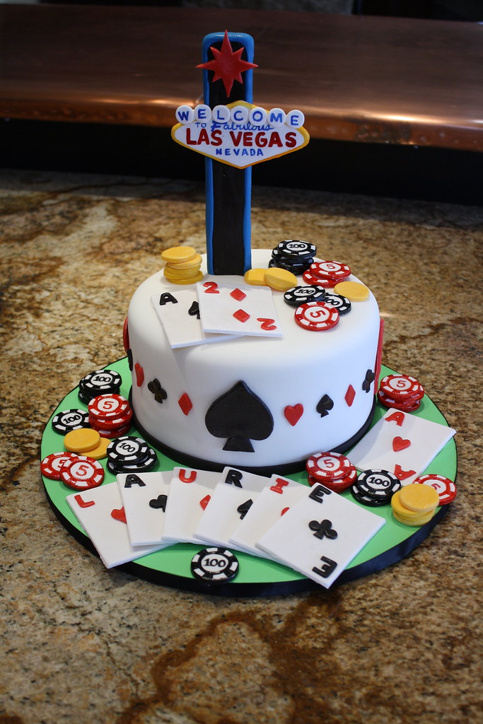 Amazing Las Vegas Birthday Cake Designer Cakes Flickr Funny Birthday Cards Online Fluifree Goldxyz
