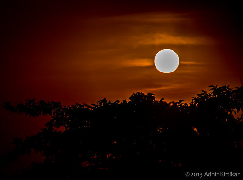 sunset india landscape westbengal krishnagar