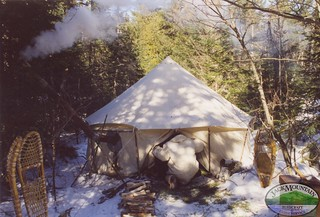 Winter Camp, Northern Maine   Ungava tent in the woods ...