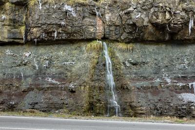 Ephemeral karst spring, Pennington Formation, US 70, White Co, TN