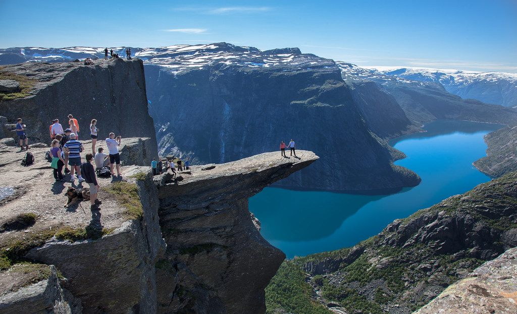 View from Trolltunga - Norway, Ringedalsvatnet