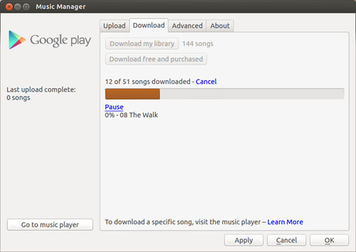 Google Music Player Uploader | by j_baer