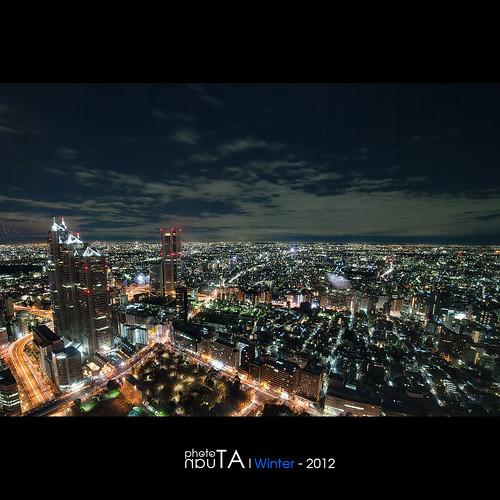 city longexposure japan night landscape tokyo