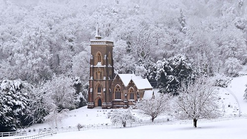 West Quantoxhead - St Etheldreda's Church in the snow - 23rd January 2013 | by David Cronin