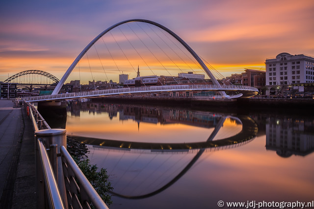 Sunset at the river Tyne