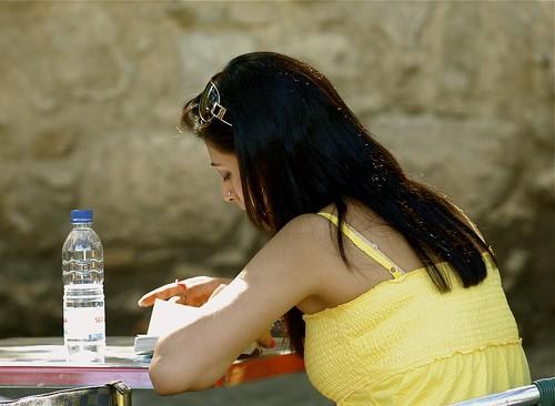 Girl reading   by pedrosimoes7