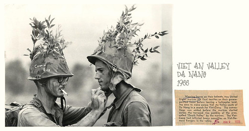 1966 Marines Camouflage Face & Helmet in Operation Harvest Moon