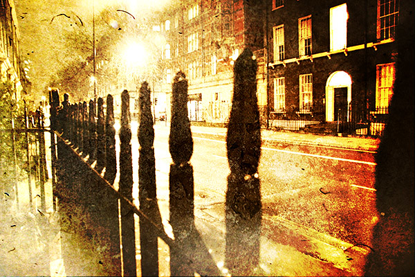 Gower Street at night