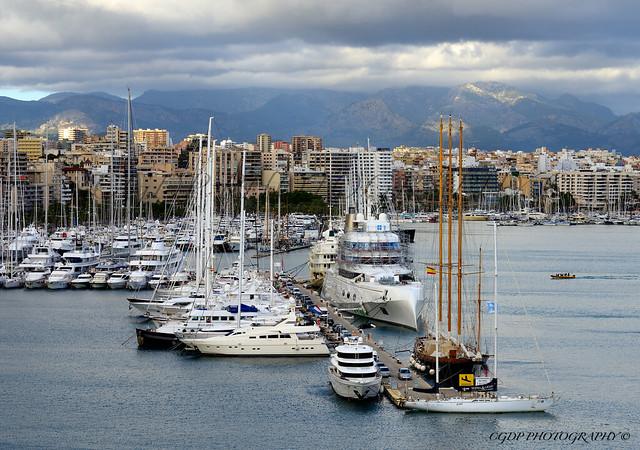 Le port de Palma de Majorque.
