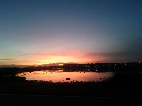 sunset galway loughatalia