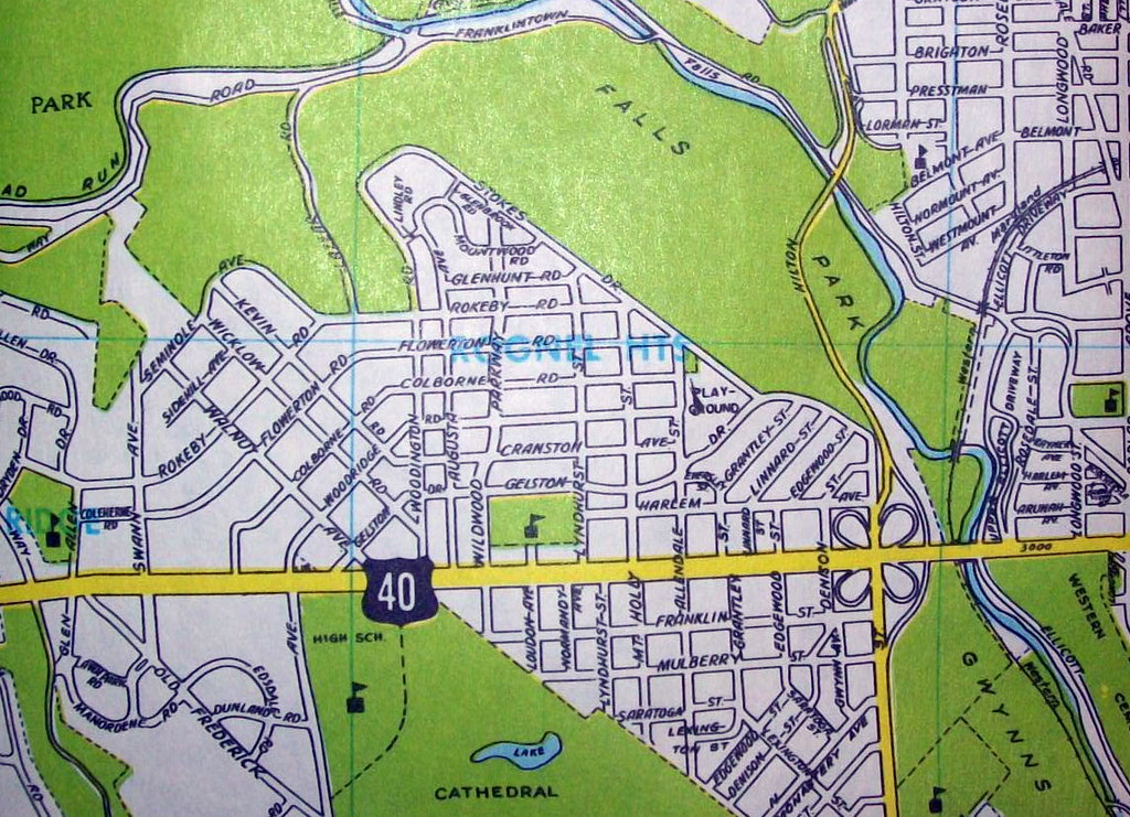 Baltimore MD 1967   Map by Dolph Map Co. Baltimore, like St ...