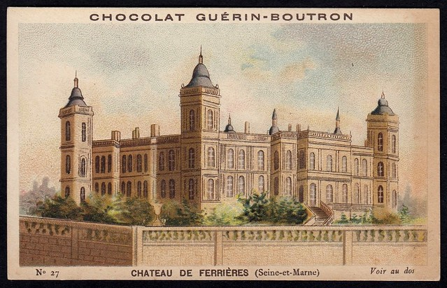 French Tradecard - Chateau De Ferrieres