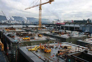 Pontoons complete and ready to float out | by WSDOT