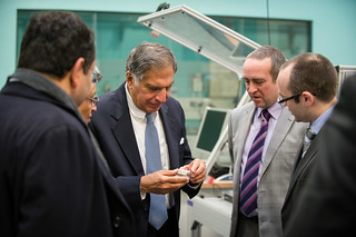 Mr Ratan Tata with Dr Greg Gibbons and Dr Ben Wood WMG | by wmgwarwick