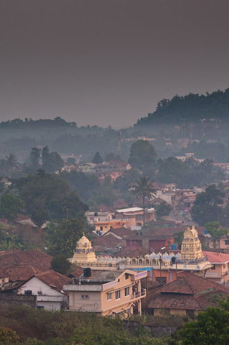 morning india mountain sunrise landscape temple village karnataka hinduism coorg madikeri kodagu rajdarshan