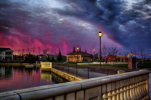 sunset clouds hdr westsacramentoca 20121229 pjm1 bridgewayslakespark pedromarenco