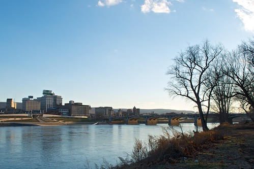 Wilkes-Barre and the Susquehanna River   by Brad Clinesmith
