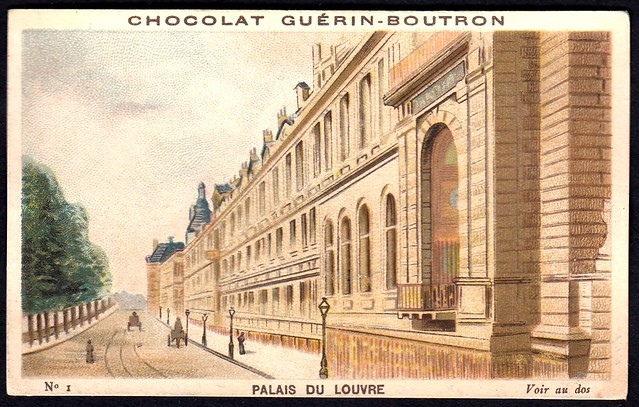 French Tradecard - Palais Du Louvre