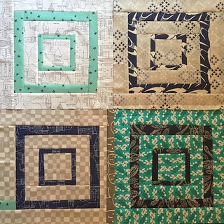 I've made about 10 of these I the last few weeks and now have 37 of the 49 blocks I need to make a full size bed quilt for Jack.  My bee mates in #stashsewciety made new bunch last fall and I hope to finish very soon!