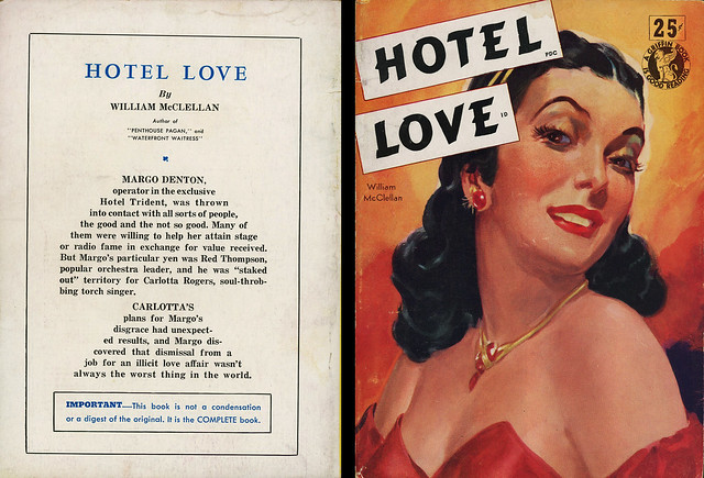 Griffin Books No# 3 - William McClellan - Hotel Love (with back)