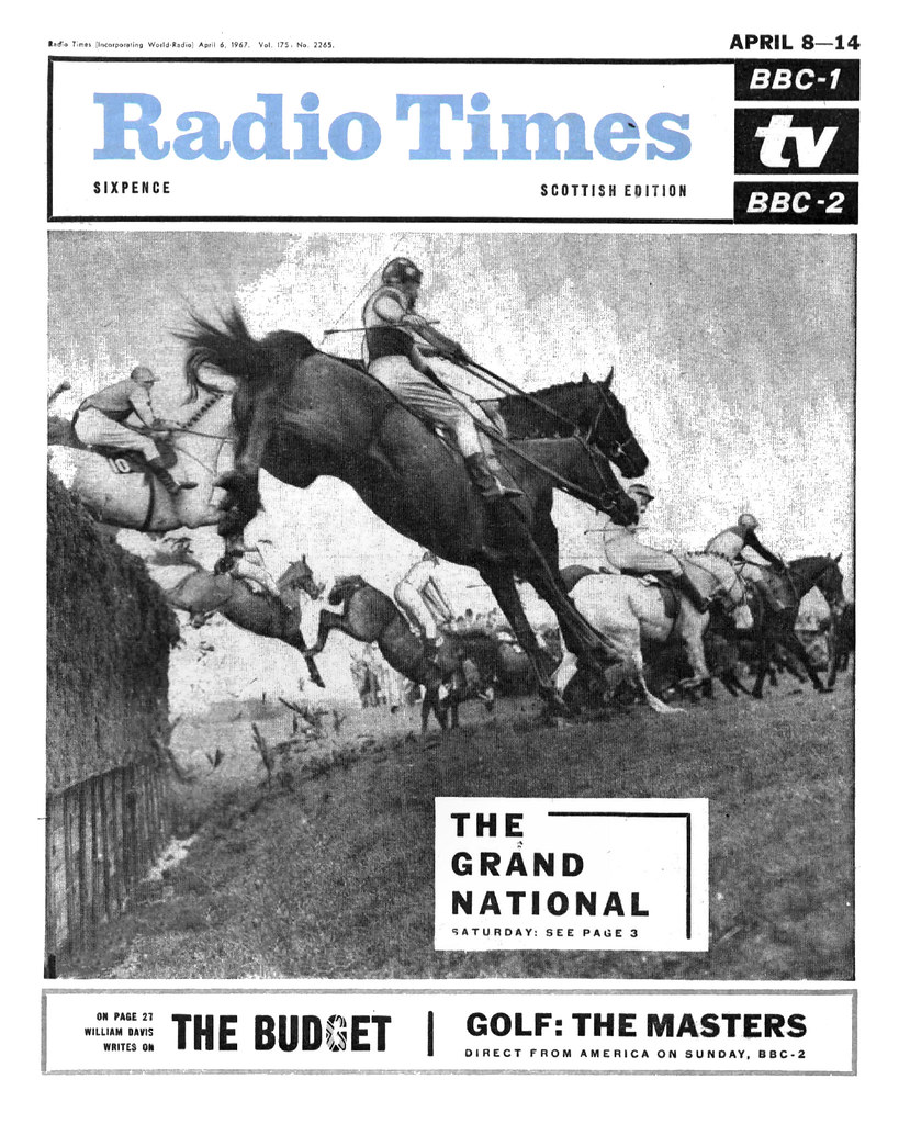 Image result for radio times cover grand national 1967