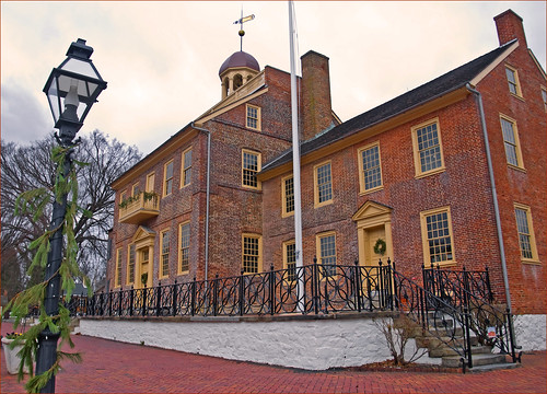 The Courthouse -- Historic District of New Castle (DE) Christmas 2012 | by Ron Cogswell