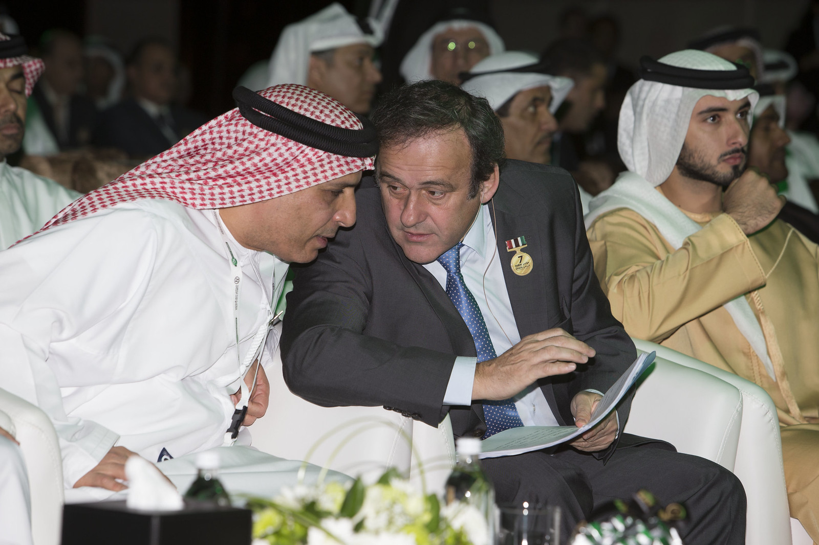 Scheikh Al Maktoum, Michel Platini and Mattar Al Tayer