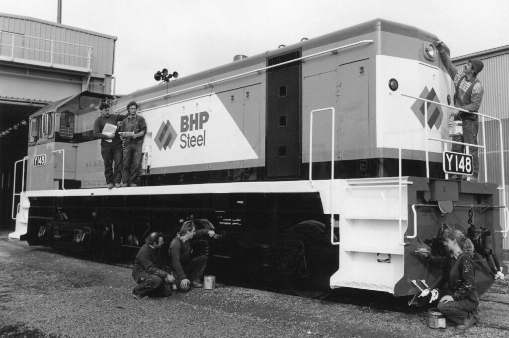 BHP's Y-148 after re-paint at Ballarat Workshops-1 by Robert Kay