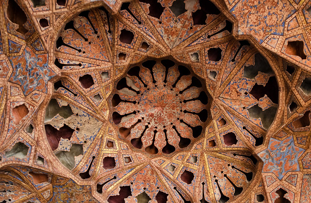 Palace Ceiling in Esfahan