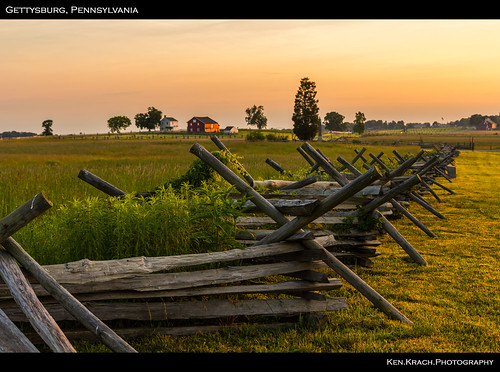 sunrise fence pennsylvania farm gettysburg civilwar