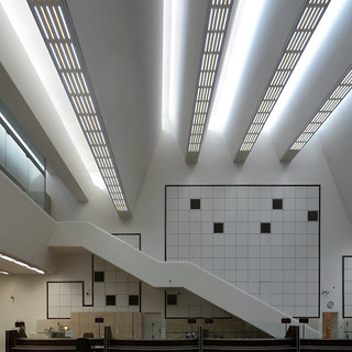 jørn utzon, bank melli, tehran, iran 1959-1962. banking hall. photographer: phillip arnold