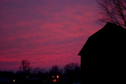 pink winter sunset ohio sky clouds barn evening dusk sony january alpha a230 fairfieldcounty 2013 ruralohio stoutsville ohiofoothills