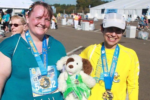 Me, Jo, and Kirsten at the finish | by rhombitruncated