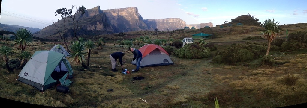 Camping in the Simien Mountains, North Ethiopia, 3650 Mete