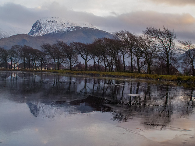 Ice on the Caledonian Canal, Corpach