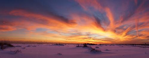 sunset whitesand pensacola skyonfire fortpickens