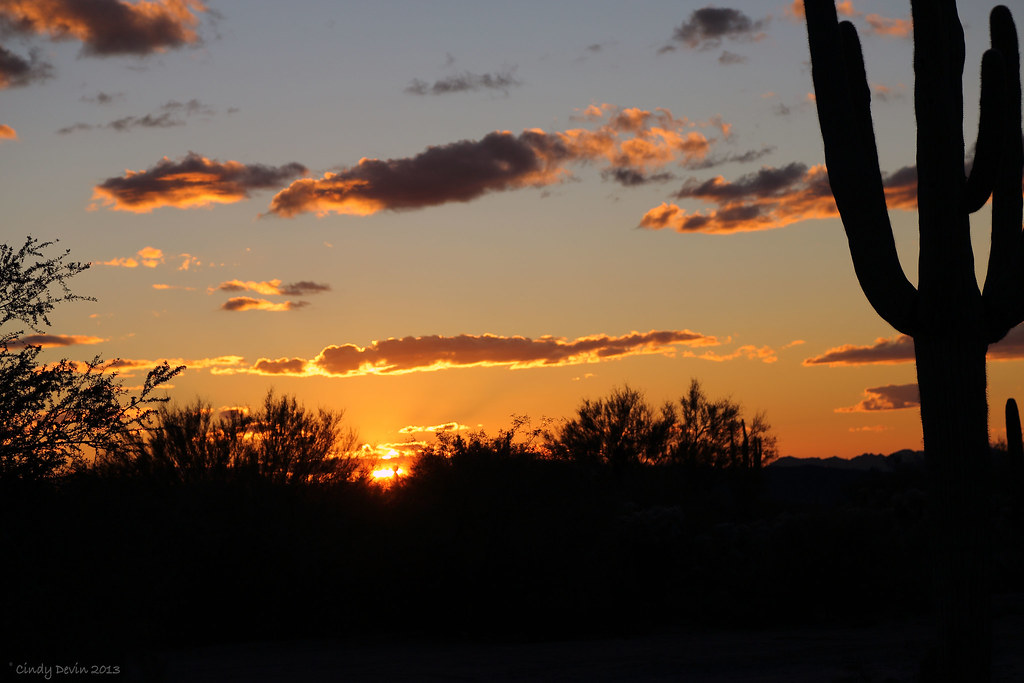 Winter Sunset - Tucson, Arizona