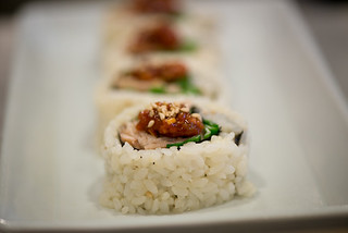 Korean Food - Kimbap Korean Sushi with Gochujang (Creative Commons)