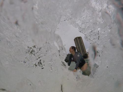 Beth surfing in Honolulu   by Beth77