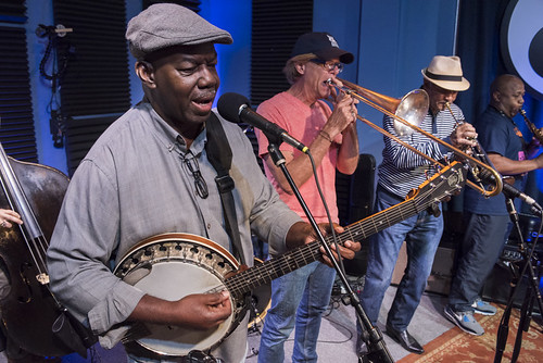 The Syncopated Percolators  perform in studio for the WWOZ 2018 Spring Pledge Drive on March 21, 2018. Photo by Ryan Hodgson-Rigsbee RHRphoto.com