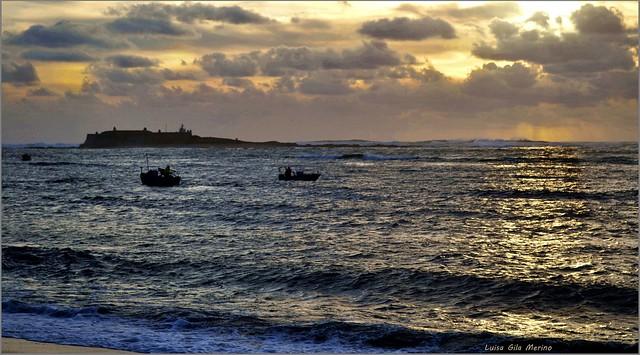 Puesta de sol frente al mar
