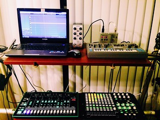 Kenton USB Solo w/ Ableton Live, MC-202, APC40, and TR-8. Analog and Digital, in-sync.   by sodonnell