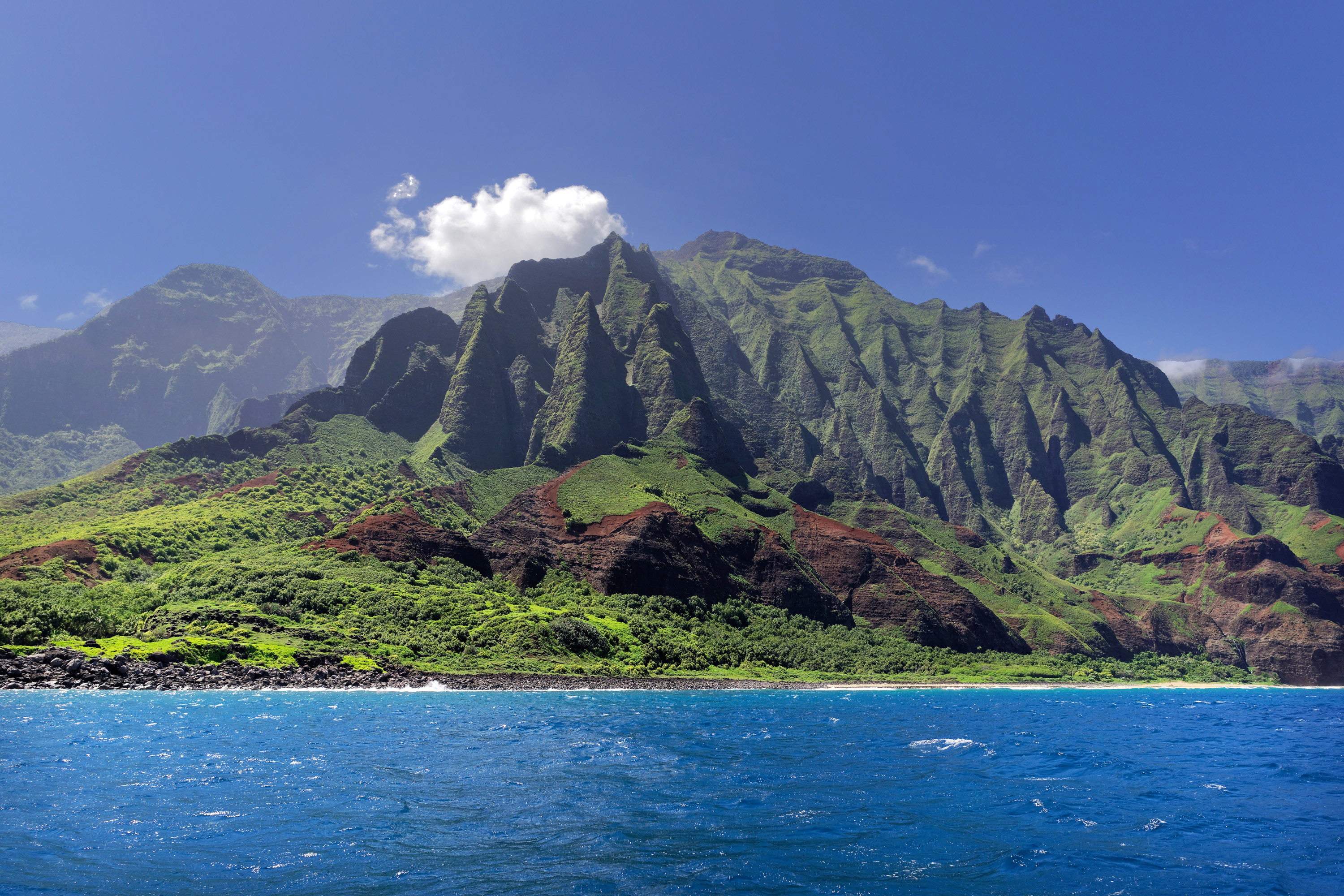 Napali coast, Kauai island, Hawaii by Marko Erman [3000 × 2000]