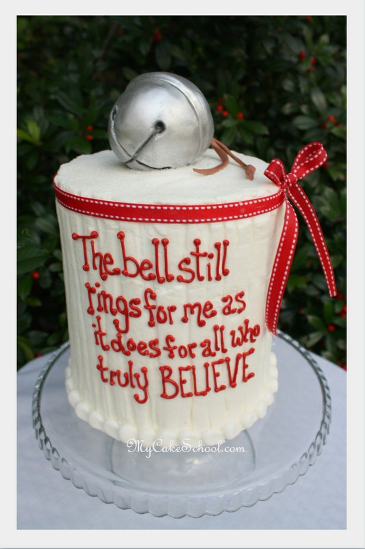 Tremendous Polar Express Cake From A Mycakeschool Com Blog Tutorial Flickr Funny Birthday Cards Online Fluifree Goldxyz
